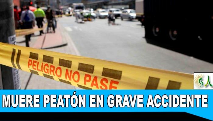 Muere Peatón arrollado en accidente vial por la calle 80 en el sector de la Granja en la localidad de Engativá