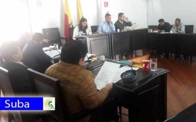 La Junta Administradora Local de Suba sesiona a esta hora