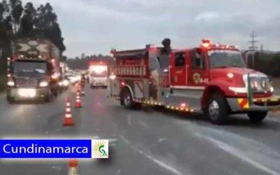 ¡Atención! 6 heridos en grave accidente de Transito en vía Cajicá-Sopó la emergencia es atendida por Bomberos de Cundinamarca