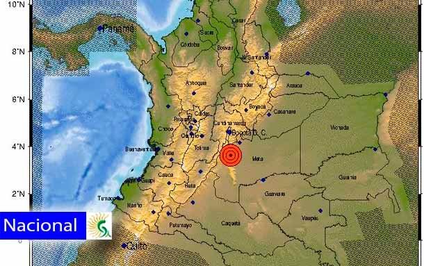 Última hora: Se registra temblor en el centro del país, cerca al departamento del Meta
