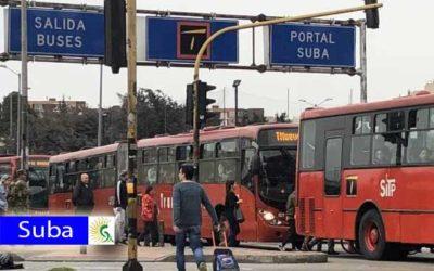 ¡Atención! se registra manifestación que bloquea la entrada del Portal de Suba